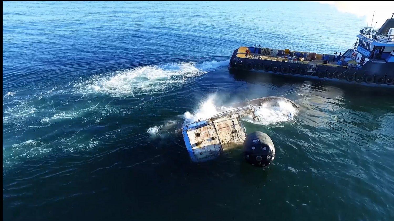RGV Reef Sinking Ship Photo