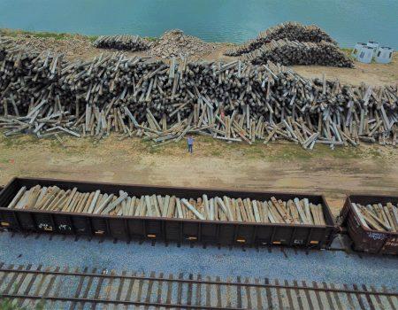 RGV Reef rail road ties
