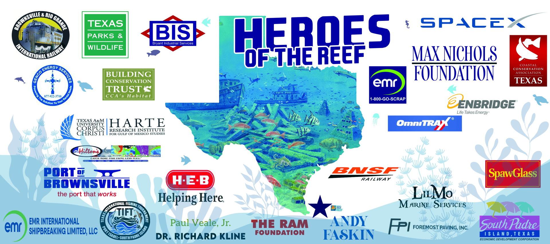 heroes of the RGV Reef Banner